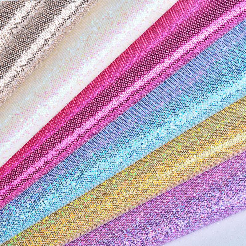 25cm * 34cm Pu glatte glitter Leder Stoff Kunstleder Für DIY Handgemachte Kleidung Nähen Zubehör Lieferungen taschen