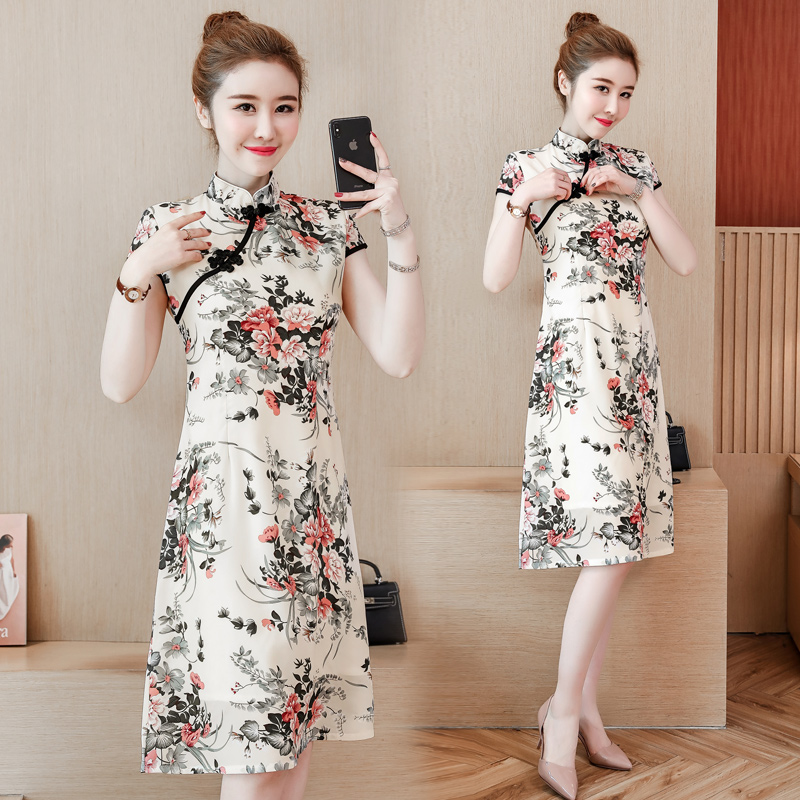 2020 Lace Ao Dai Dresses Women Clothes Sexy Vietnam Traditional Cheongsam Suit Two Piece Modified Qipao Dress Cheongsam Dress