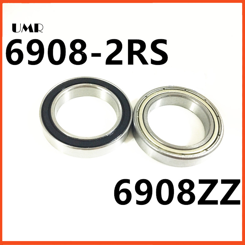 The high quality  6908-2RS 6908ZZ thin miniature bearings 40* 62*12 P6 bearing  61908 UMR bearings 1pcs 71901 71901cd p4 7901 12x24x6 mochu thin walled miniature angular contact bearings speed spindle bearings cnc abec 7
