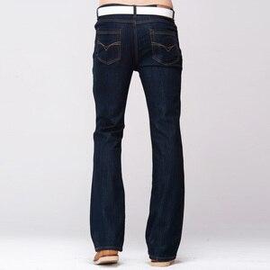 Image 3 - GRG Mens Slim Boot Cut Jeans Classic Stretch Denim Slightly Flare Dark Blue Pants Fashion Stretch Trousers