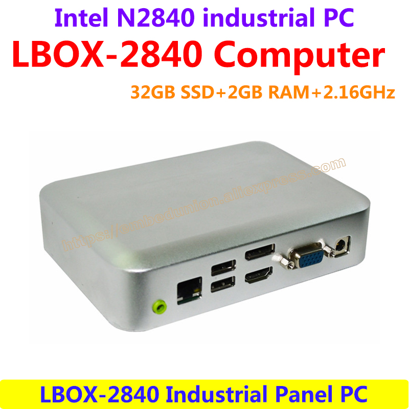 LBOX-2840 Intel N2840 2.16GHz 32GB SSD 2GB RAM Industrial Panel Computer low power high performance,Fanless Design(LBOX-2840)
