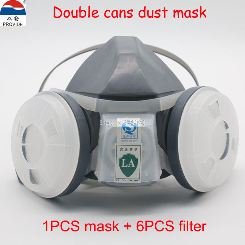 PROVIDE respirator dust mask high quality gray respirator face mask PM2.5 industrial safety spraying painting mask 50pcs high quality dust fog haze oversized breathing valve loop tape anti dust face surgical masks
