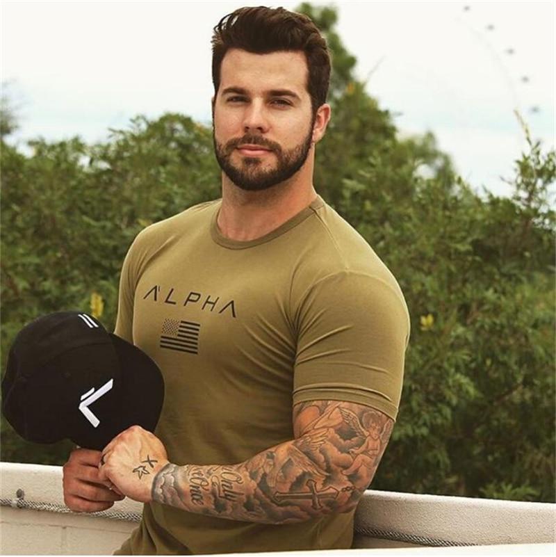 18 Mens Military Army T Shirt 17 Men Star Loose Cotton T-shirt O-neck Alpha America Size Short Sleeve Tshirts 12