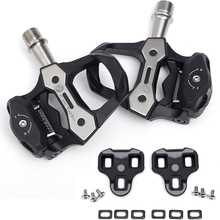225g Carbon fiber Titanium axle bicycle pedals ultra light carbon self locking pedal cycling road 3degree cleats for Look Keo