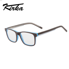 Kirka modes acu brilles rāmja skaidrs lēcas optisko brilles acetate brūns zils brilles rāmji briļļu sievietēm vīriešiem