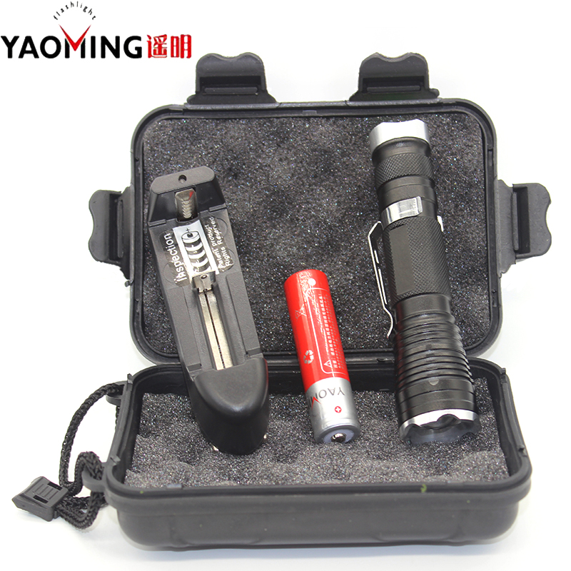 Police flashlight 3800LM CREE XML T6 led mini flashlight lanterna rechargeable lamp linterna penlight +18650 battery + charger crazyfire led flashlight 3t6 3800lm cree xml t6 hunting torch 5 mode 2 18650 4200mah rechargeable battery dual battery charger