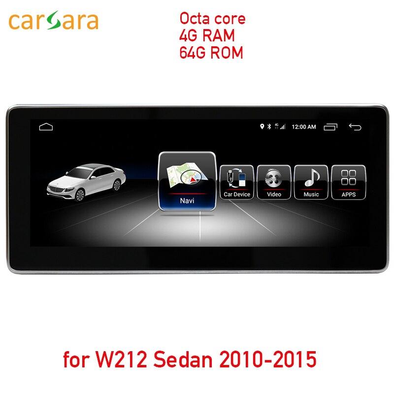 4g RAM 64 ROM Android écran tactile pour E Classe W212 LHD berline 2010-2015 10.25 affichage GPS Navigation radio lecteur multimédia