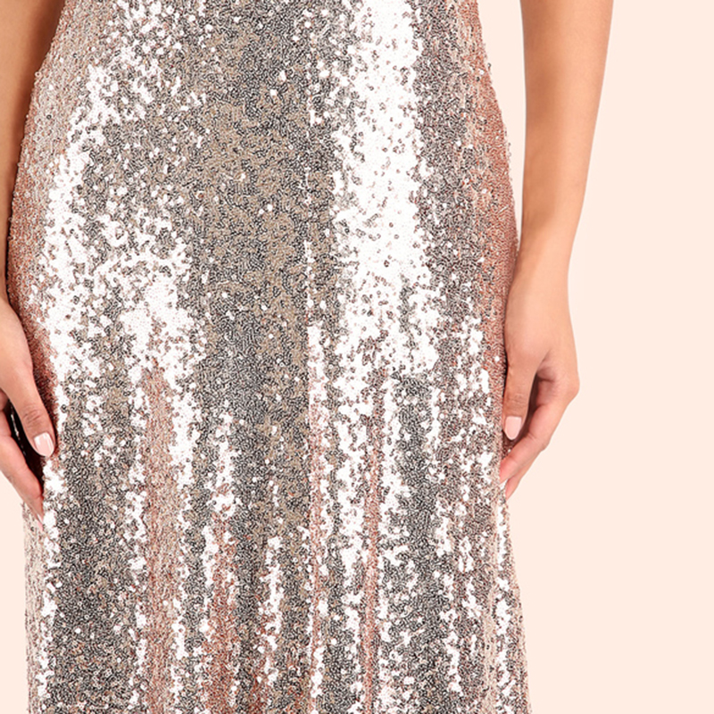 COLROVIE Rose Gold Sequin Party Maxi Dress 2017 Sexy Backless Slip Long Summer Dresses Women Empire Elegant A Line Club Dress 12