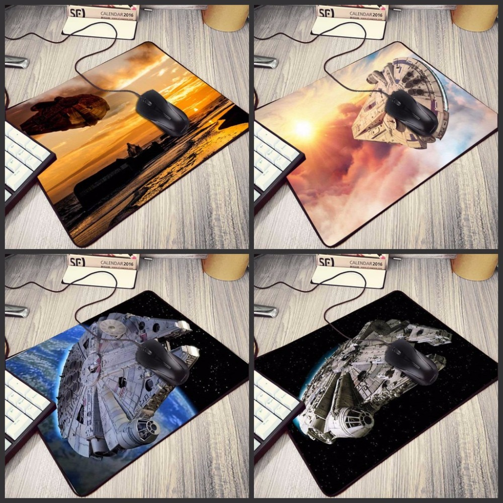 Mairuige Hot Movie Star Wars Painting Gaming Speed Mouse Pad 22*18cm 25*20cm Rubber Mousepad for PC Computer Office Game Player image