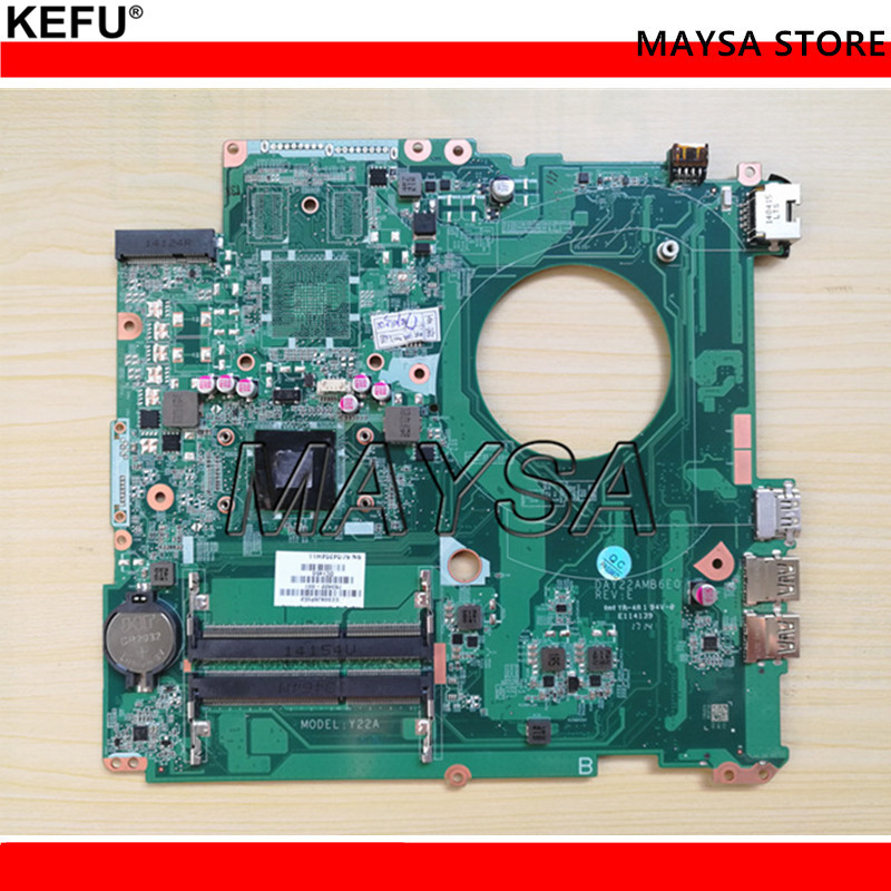 763421-501 763421-001 FIT FOR HP PAVILION 17-F series Laptop Motherboard DAY22AMB6E0 REV:E A4-6210 Mainboard ytai a4 6210 processor for hp pavilion 15 g laptop motherboard la a996p rev4 0 with a4 6210 processor ddr3 mainboard 100% tested