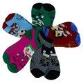 5prs/lot Algodón Súper héroes de calcetines de dibujos animados calcetines para hombres y mujeres slipper socks
