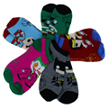 5prs/lot Cotton Super heroes socks cartoon socks for men and women slipper socks