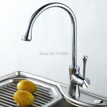 L16852 хромированная латунь отделка Материал бортике холодной и горячей воды смеситель для кухни