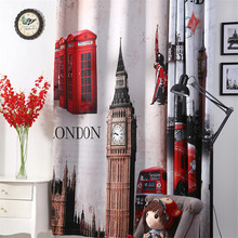 Ready made thermal blackout window curtains for kids room 3d window curtains for living room luxurious
