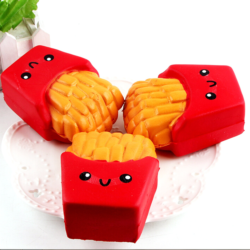 10CM Soft Squeeze  Cute French Fries Cream Scented Squeeze 6 Seconds Slow Rising Decompression Antistress Fidget Toys
