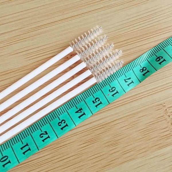 10 pçs/lote Portátil Conveniente Bebê Palhas de Aço Inoxidável Escovas de Limpeza Escova de Escova de Garrafa Tubos de Ensaio P7Ding