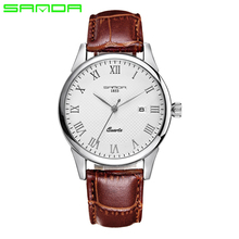 2016 Hombres de Lujo del Reloj de Cuarzo de Moda-reloj Hombre Impermeable Relojes 2016 Marca de Cuero de Lujo Relojes Hombre relogios masculinos