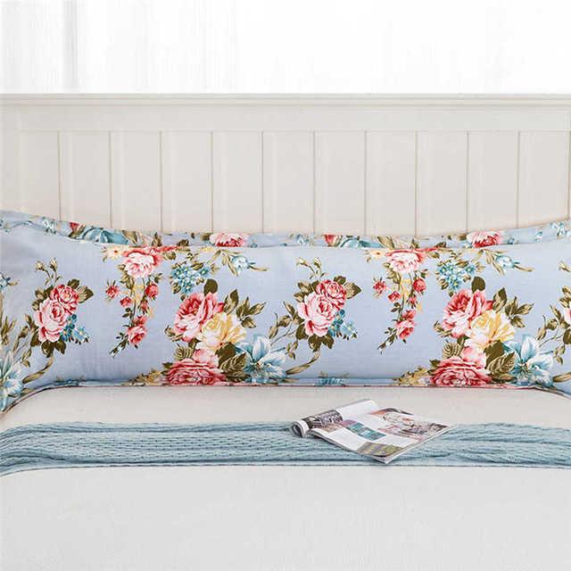 Comfy Home Print Pillowcases Long Body Double Pillow Cover Protector Simple No Fade 100%Cotton  Pillowcase