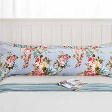 Funda de almohada cómoda estampada para el hogar funda de almohada doble de cuerpo largo Simple sin desvanecimiento 100% funda de almohada de algodón