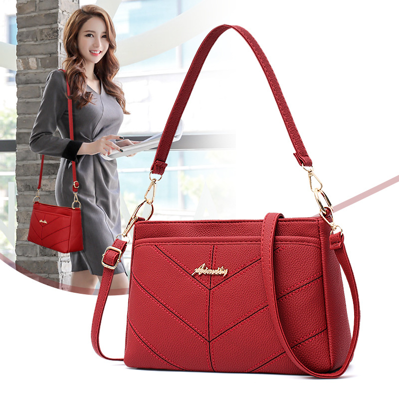 High Quality Leather Women Bag Shoulder Bags Solid Big Handbag Large Capacity HandBags Fashion New Hot Sale Messenger Bags