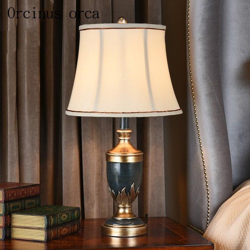 Американская прикроватная лампа для спальни, лампа в европейском стиле для гостиной, учебы, креативная ретро деревенская художественная Св