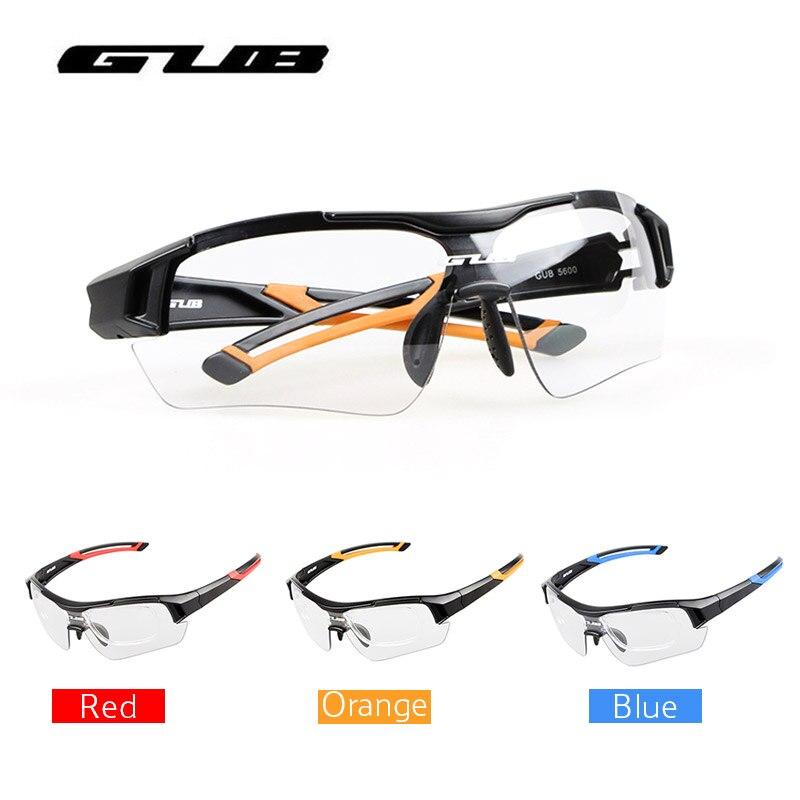 Photochromique Cyclisme Vélo Lunettes Vélo Lunettes Myopie Cadre Sports de Plein Air VTT Vélo Vélo lunettes de Soleil Lunettes Accessoires GUB