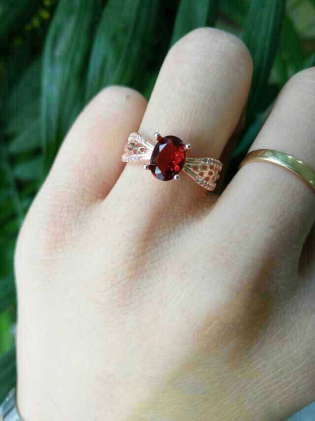Natural red garnet stone Natural gemstone ring S925 sterling silver trendy Elegant Lovely Hollow round women party gift Jewelry цена 2017