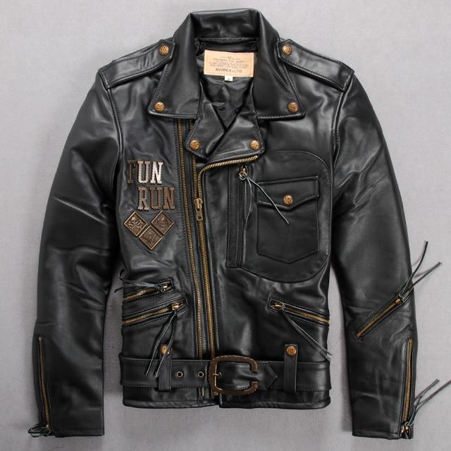 Avirex Flight Men S Leather Jacket Genuine Leather