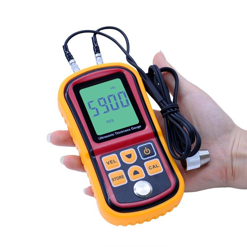 LCD Digital Ultrasonic Thickness Gauge tester Metal Width Measuring InstrumGM100 1.2 to 225mm(Steel) Sound Meter Diagnostic-tool gm130 digital lcd display ultrasonic thickness gauge metal testering measuring instruments 1 0 to 300mm sound velocity meter