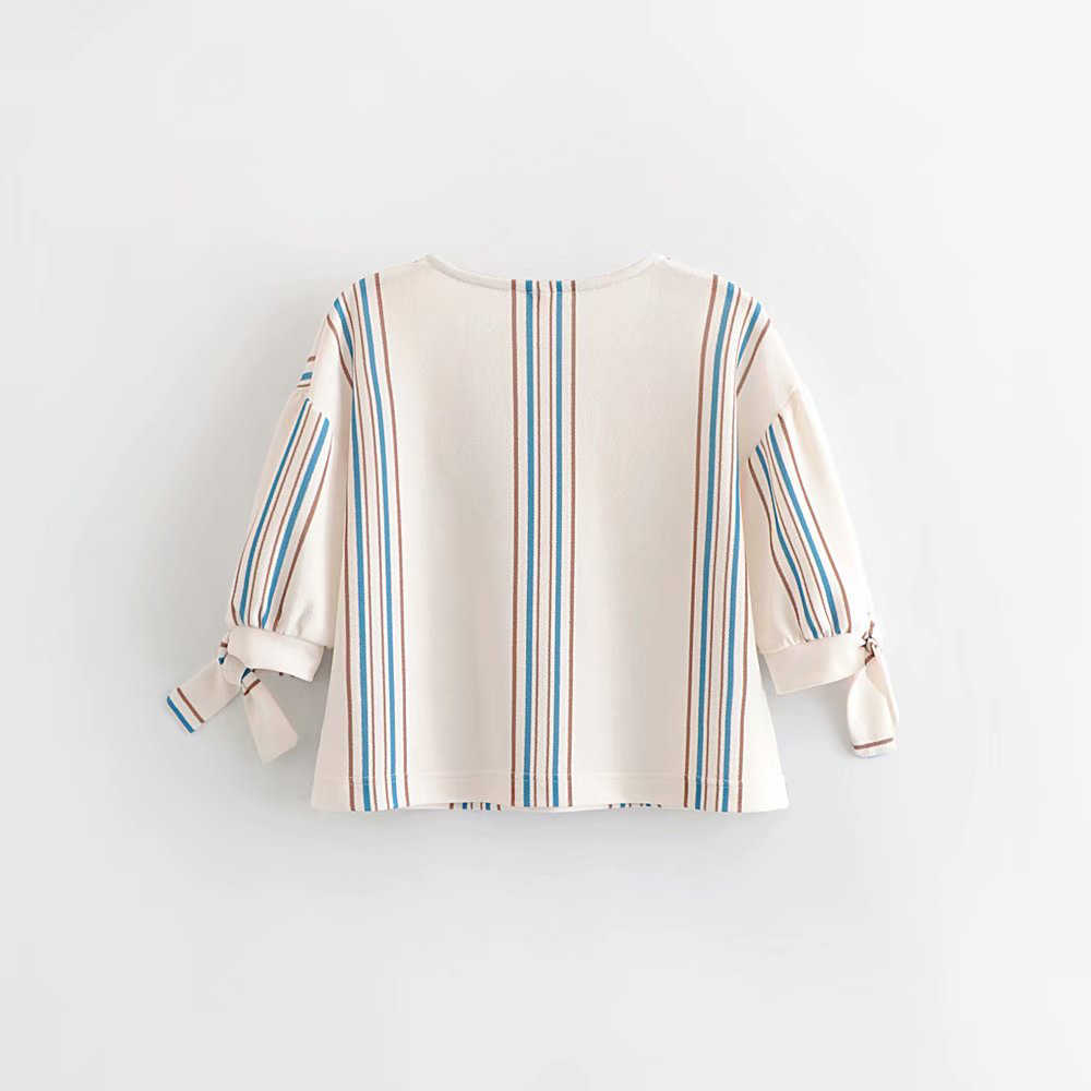 Women Casual White Striped Za Blouse Female 2019 Spring Summer Fashion V-neck Short Sleeve Bow Tops Shirts blusas mujer de moda