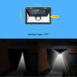 Image 3 - 34 LED Solar Light Motion Sensor Solar Powered Night Security Wall Lamp Waterproof Garden Light for Patio Lawn Garden Corridor
