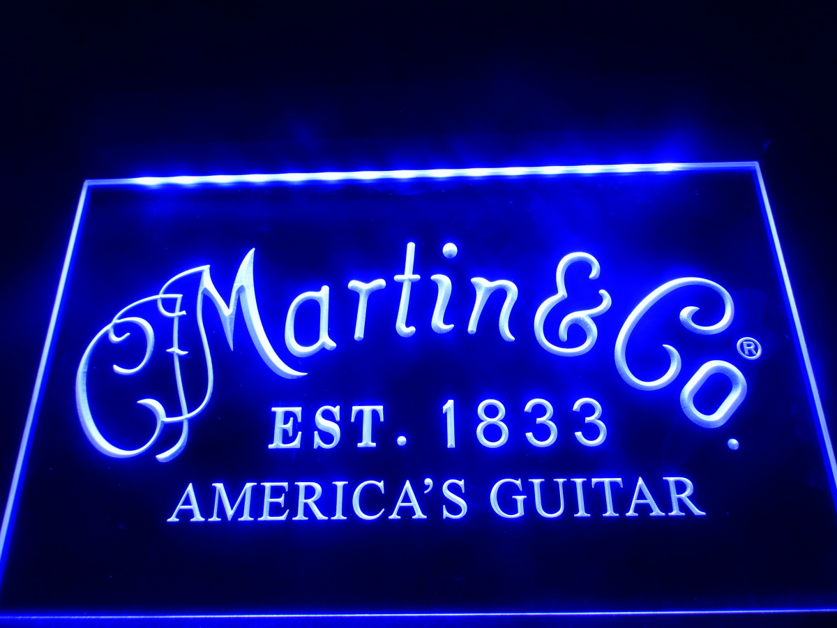 ll169 martin guitars acoustic music led neon light sign home decor crafts in plaques signs. Black Bedroom Furniture Sets. Home Design Ideas