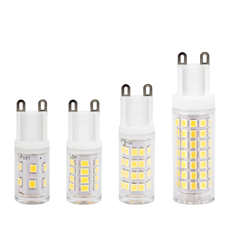 5pcs G9 LED Ceramic Bulb No Flicker 2W 4W 6W 8W 220V SMD2835 Light Replace Halogen For Chandelier Warm White Cold White LED Lamp image