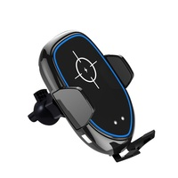 Qi Car Wireless Charger Fast Wireless Charging Phone Holder Dashboard Windshield Air Vent Mount with Aromatherapy Box for iPhone