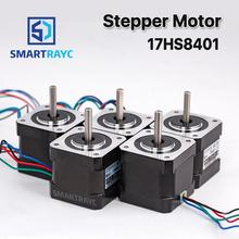 Smartrayc 5 pcs 4-lead Nema17 Stepper Motor 42 Nema 17 42BYGH (17HS4401) 40mm 1.7A 3D printer motor and CNC XYZ