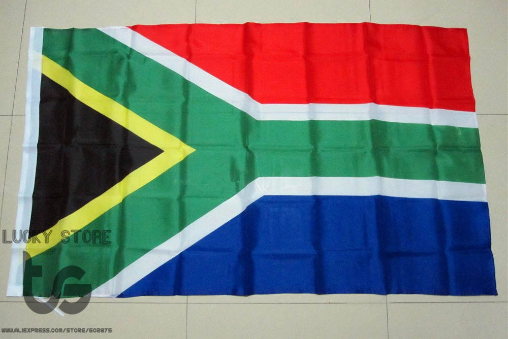 South Africa  flag Banner  Free shipping  90*150cm Hanging  National flag  South Africa Home Decoration South Africa  flag