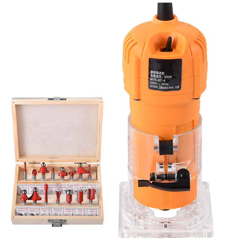 Machine de découpage du bois Machine à rainurer multi-fonction Machine de gravure tondeuse à bois 220 v 470 W 2800r/min
