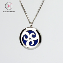 Men and women perfume pendant necklace High quality 316L stainless steel perfume locket jewelry 30mm fragrance diffuser