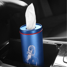 Alloy Car Tissue Box Car Seat Back Hanging Storage Tissue Case Box Container Towel Napkin Papers Bag Holder Box Case Car storage