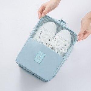 Путешествия использования водонепроницаемый/пыли обувь сумка элегантный цвет Путешествия хранения 276 т Двусторонняя twill обувь высокого ка...