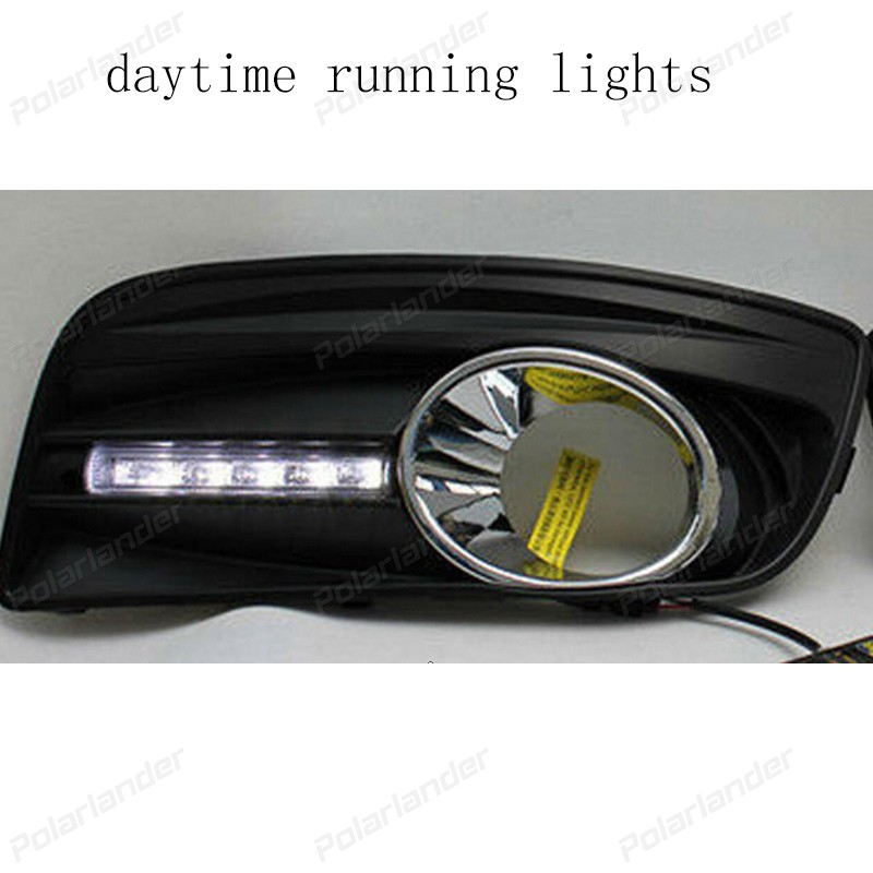 AUTO PART For V/W golf 5 2003-2009 LED DRL daytime running light fog lamp top quality 2009 2011 year golf 6 led daytime running light