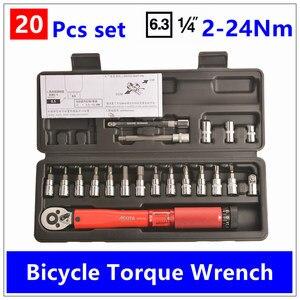 Image 3 - MXITA kit de clé de couple à cliquet ajustable, jeu doutils de réparation de vélo, jeu doutils à main, 1/4 de pouce 1 25NM