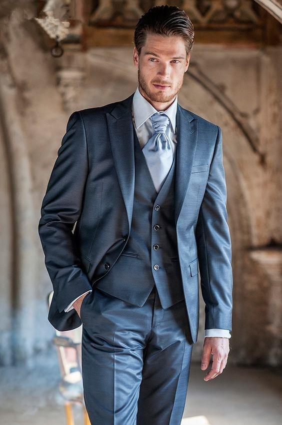 Slim Bleu Marié Manteau Dernières Skinny Smoking Masculino Image Same 3 Fit Classique Pièce Pantalon Marine Hommes Doux De Costume Designs As Personnalisé Bal Terno Iaqa0