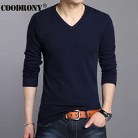 All Match Knitted Bottoming Shirt Soft Warm Cashmere Sweater Men Brand Clothing Slim Fit V Neck