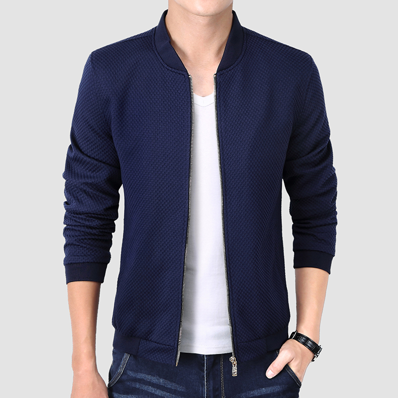 2018 New Spring Autumn Men s font b Jackets b font Thin Solid Fashion Coats Male