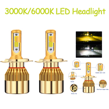 Auto Headlights 12V Led Light H4 H7 H11 H8 H1 H3 C6 Car Headlight Bulbs 38W 4800LM Styling 3000K 6000K led automotivo