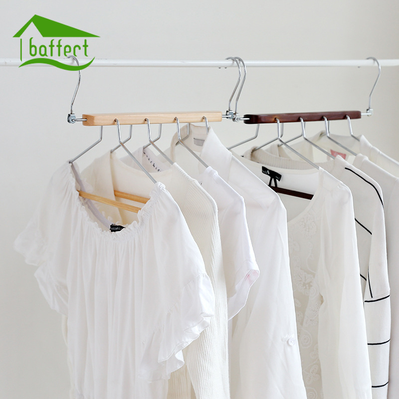 Baffect Multiple Layers Foldable Space Saving Clothes Hanger Coat