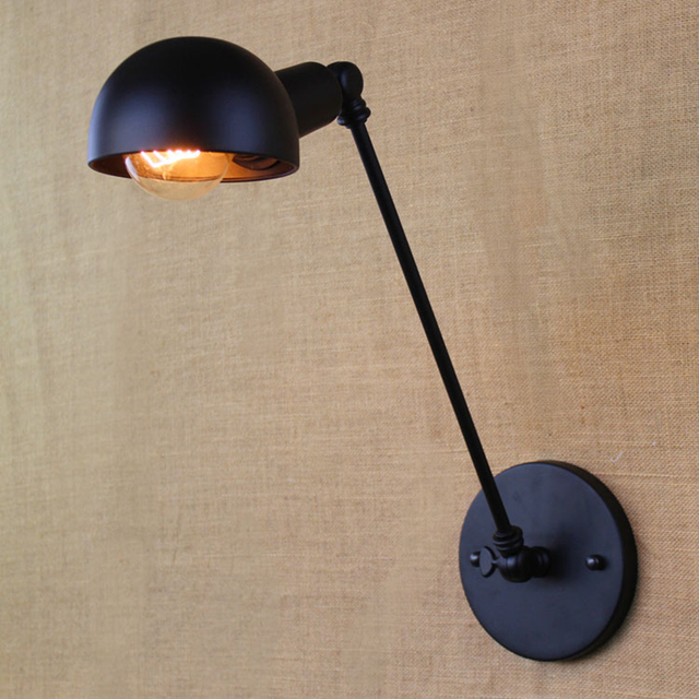 Loft Nordic Vintage Wall Lamp Clic Black Art Sconce Adjule Arandela Led Swing Arm Lights Circular Zbd0107