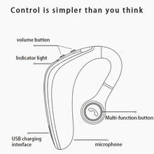 블루투스 헤드셋 5.0 무선 헤드폰 이어폰 마이크가있는 슈퍼 롱 스탠바이 이어폰 sweatproof noise reduction 핸즈프리