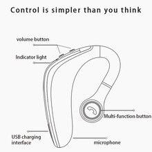 Auriculares bluetooth 5,0 auriculares inalámbricos auriculares súper largos auriculares con micrófono en espera reducción de ruido manos libres